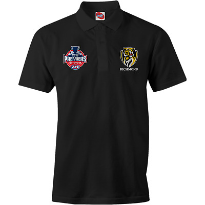 NEW Official 2017 Richmond Tigers Mens Black Premiers Polo