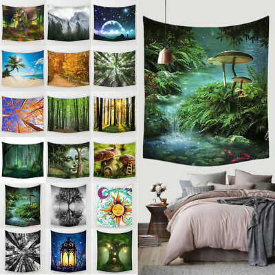 Fairy Forest Hanging Wall Tapestry Bohemian Hippie Throw Bedspread Home Decor H!