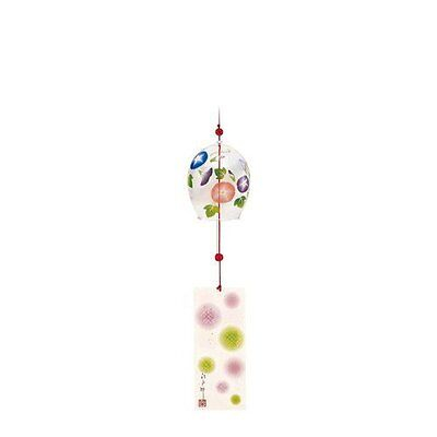 From Japan Edo Iki Furin Glass Wind Chime Bell Flower