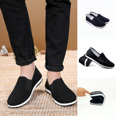 Mens Kung Fu Shoes Rubber Sole Tai Chi Martial Arts Slippers Chinese Traditional
