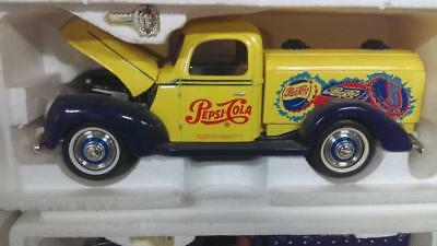 1940's Yellow Pepsi Pick-up Truck Bank w/Key - Displayed Only
