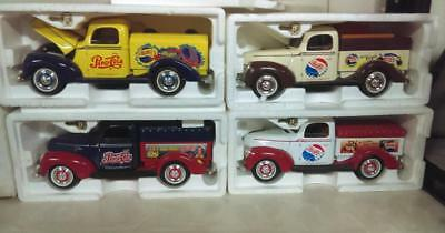 Cream & Brown Pepsi Pick-up Truck Diecast Bank w/Key - Displayed Only