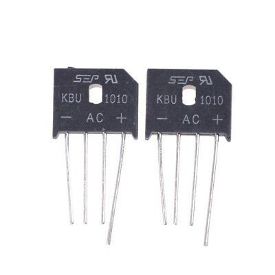 2PCS KBU1010 10A 1000V Single Phases Diode Bridge Rectifier LE