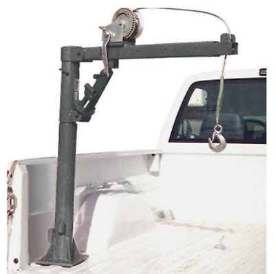 Pickup Truck Bed Crane With Cable Winch Foldable Swivel Lift Jack Hoist Lifting