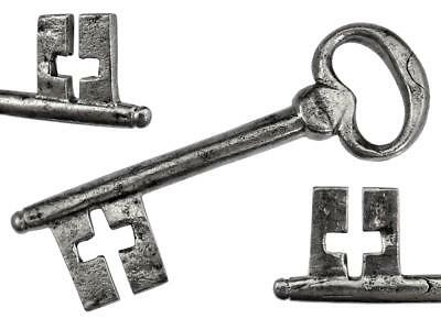 "Antique 18th Century Iron Key with Cross Form Ward 4⅜"" - ref.k426"