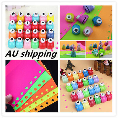 20x Mini Scrapbook Punches Cutter DIY Paper Hole Puncher Shape Cutter Decoupage