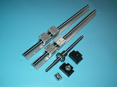 SBR25-1500mm linear rail+ballscrew RM2505-1500mm+BK/BF20 end bearing nut housing
