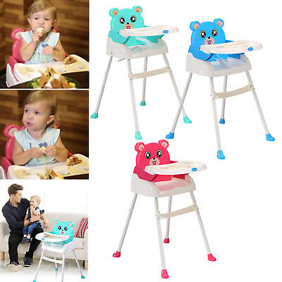 Foldable baby high chair recline Feeding Highchair Height Adjustable Seat Height