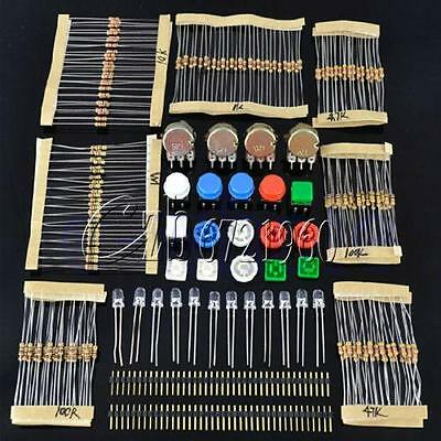 Electronic Parts Pack KIT for ARDUINO Component Switch Button Resistors