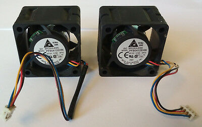 2x Delta Lüfter 12V 0,72A 4 Pin DC Brushless Fan PFB0412EHN