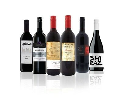 Australian Assorted Red Wine Mixed - 6 Pack RRP$89 (6 x 750ml) Free Shipping