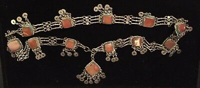 Incredible Find!  Antique/Vintage Middle Eastern Belly Dancing Belt with Stones!