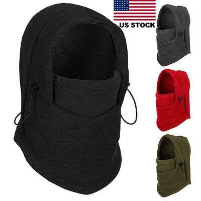 FAST Windproof Thermal Fleece Neck Hood Balaclava Ski Face Mask for Cold Weather