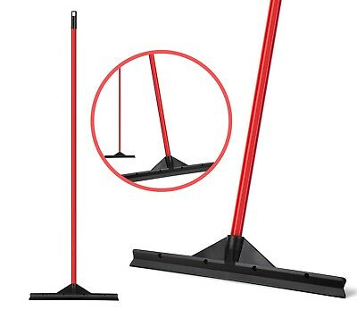 """Heavy Duty Floor Patented Squeegee 46 Cm """"Solid Natural Rubber Blade"""" Long Handl"""