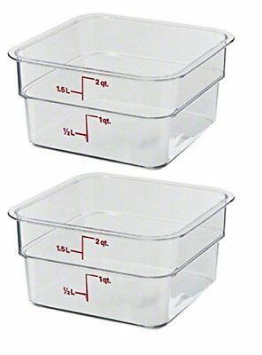 Cambro 2SFSCW135 CamSquare Food Storage Containers Set of 2 2-Quart NSF  sc 1 st  PicClick & CAMBRO CAMWEAR CAMSQUARE Food Storage Containers - All Sizes - $4.39 ...