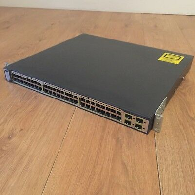 Cisco Catalyst WS-C3750G-48TS-S Stackable 48 port Switch C3750 10/100/1000T