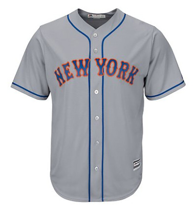 Majestic Mlb Cool Base Replica New York Mets Road Jersey