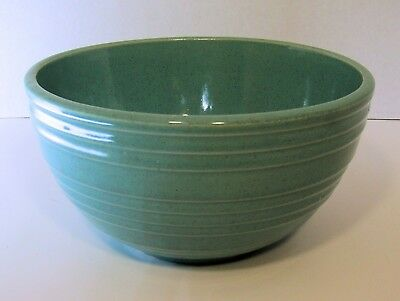"""Vintage McCOY Pottery BEEHIVE Ringware TURQUOISE BLUE Stoneware Mixing Bowl 7"""""""