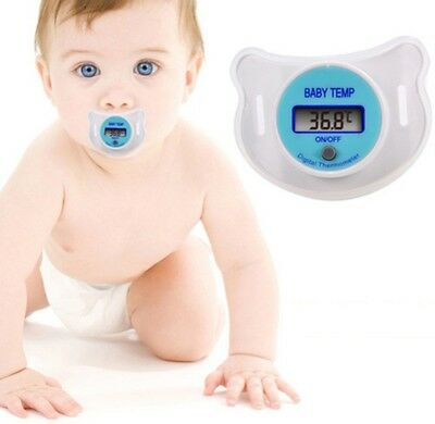 Digital Dummy Soother Pacifier Baby Toddler Child Oral Thermometer Portable