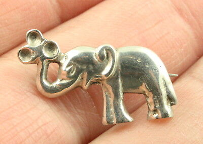 Vintage Art Deco c1930's sterling silver elephant brooch pin