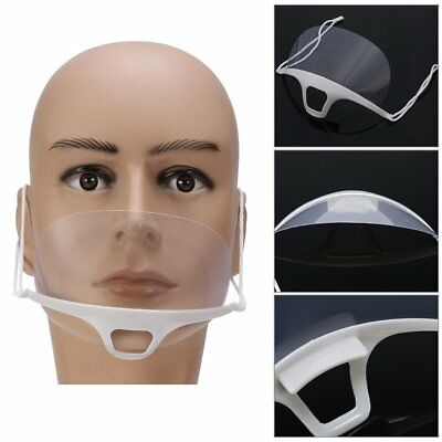 Transparent Sanitary Mask,10PCS Anti-fog Catering Food Hotel Plastic Kitchen
