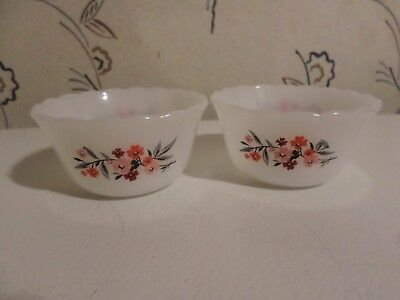 Set Of 2 Vintage Fire King Ramekins Custard Cups 6 oz. #424