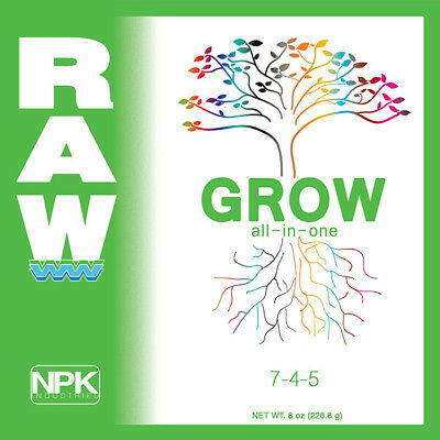 Npk Industries Raw Solubles All In One Grow 8 Oz