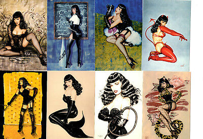 Bettie Page/Olivia Postcard Set of 18 (2005) Ozone Productions High Grade