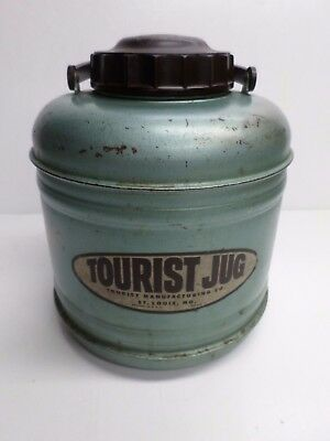 "Vintage RARE ""TOURIST JUG"" One (1) GAL. PICNIC JUG - ALL METAL"