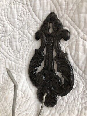 Antique/Vintage Cast Metal Ornate Bill Receipt Letter Paper Spike Wall Hook