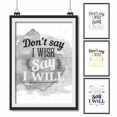 INSPIRATIONAL QUOTE POSTER ART Print Typography wall decor gift~ I ...