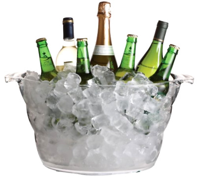 Large Ice Bucket Bowl Pail Bottle Holder Champagne Wine Bar Party Drinks Cooler