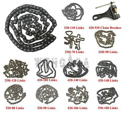 415/420/520/530/428/25H/T8F Chain For ATV Quad Pit Dirt Bike Motorised Scooter
