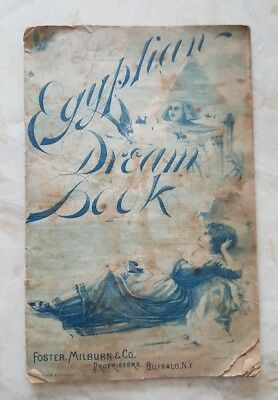 1890's Egyptian Dream Book Foster Milburn Buffalo NY Burdock Blood Bitters Quack
