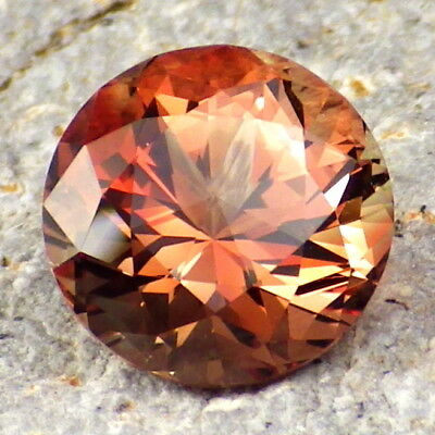 ORANGE-RED OREGON SUNSTONE 3.93Ct FLAWLESS-INCREDIBLE GEMSTONE-VERY RARE-VIDEO!
