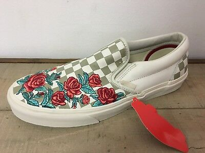 Unisex Vans Classic Slip-On Rose Embroidery Marshma Vn0A38F8Qf9