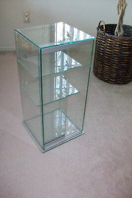 Large Glass Tower Display Case.....Heavy