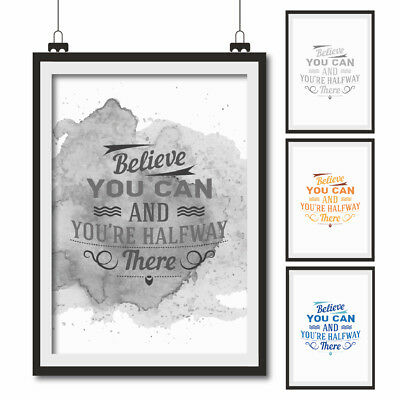 INSPIRATIONAL QUOTE POSTER ART Print Typography wall decor gift ...