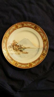 Vintage Asian Oriental Dish Bowl Hand Painted Pottery