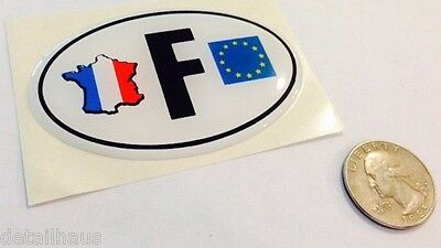 Soft Oval F France Badge - French Eu  Country Emblem - Peugeot Citroen Renault