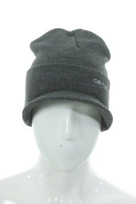 A164Clh Men Knit Hat With Visor Carhartt Coal Heather