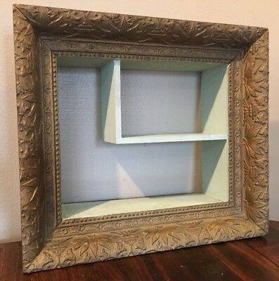 Antique Victorian 1900's Ornate Gold GESSO Wood Wall Shadow Box Vintage