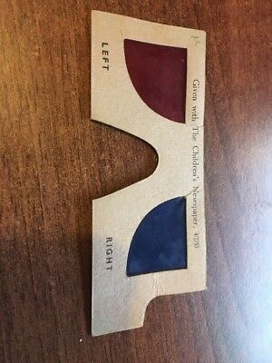 Rare Set Of 3D Glasses Given With The Children'S Magazine In 1933. Look!