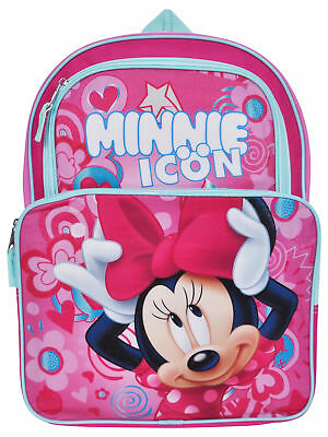 "Girls Disney Minnie Mouse Cargo Backpack 16"" Pink"