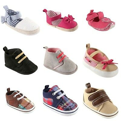 New Baby Infant/boys/girls Luvable Friends Soft Pram Shoes Latest