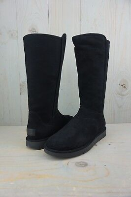 4f1fa821af5 UGG ABREE TALL Nero Black Suede Made In Italy Womens Boots Us 8 Nib