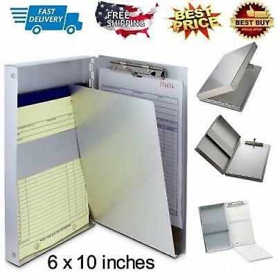 Clipboard Letter Document Box Metal Storage Organizer Container Side Opening USA