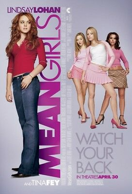 MEAN GIRLS MOVIE POSTER 2 Sided ORIGINAL FINAL 27x40 LINDSAY LOHAN