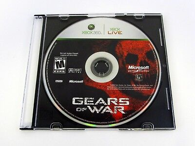 GEARS OF WAR Xbox 360 Microsoft Game DISC + SLIM JEWEL CASE 2006