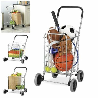 Easy Folding Shopping Cart With Wheel Rolling Utility